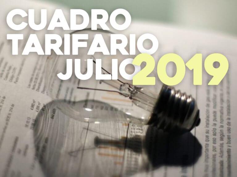 Cuadro Tarifario Julio 2019