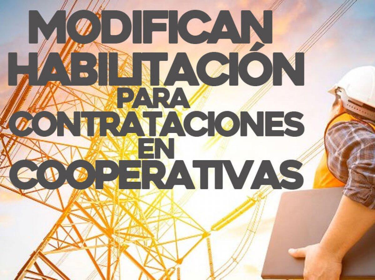 Modifican habilitación para cooperativas de servicios en contrataciones provinciales