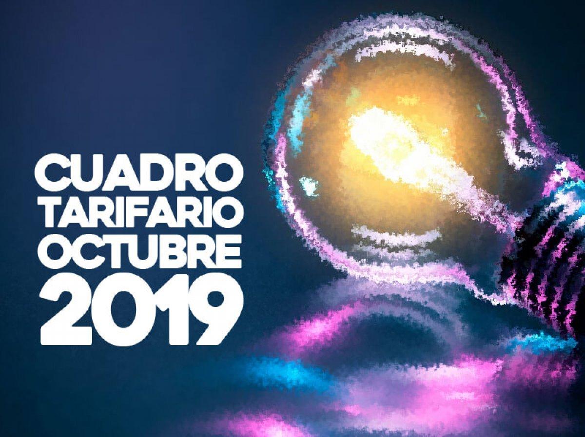 Cuadro Tarifario Octubre 2019