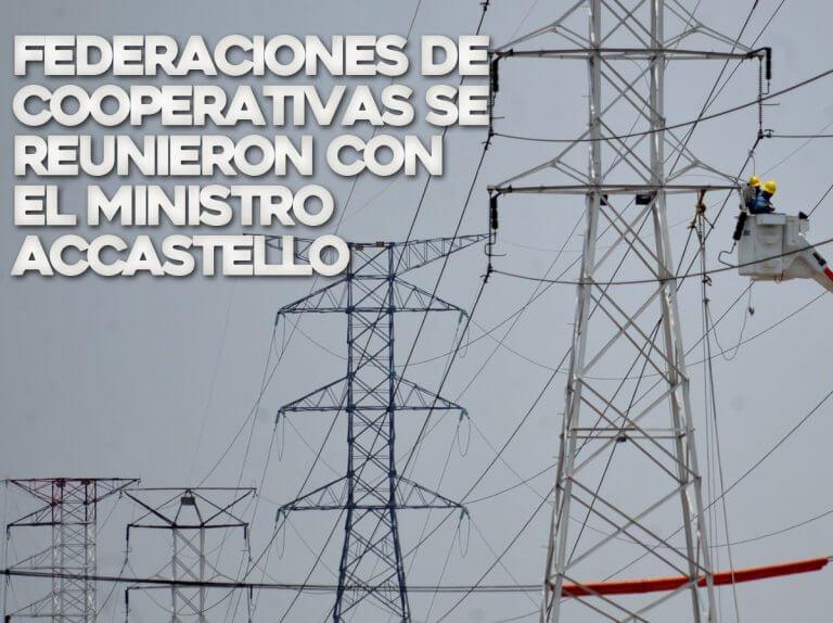 Federaciones de cooperativas se reunieron con el Ministro Accastello