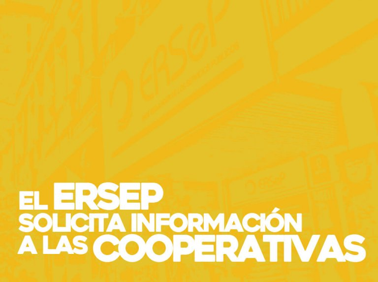 El ERSeP solicita información a las cooperativas